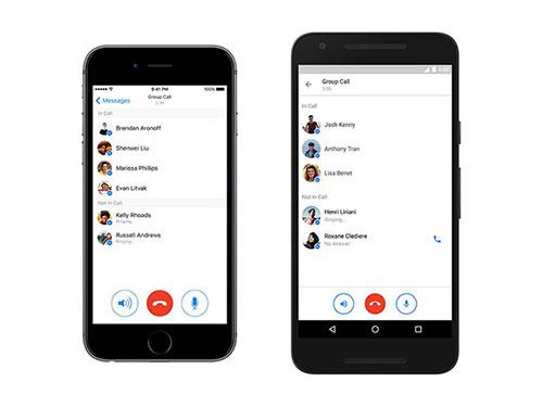 В Facebook Messenger стали доступны групповые звонки