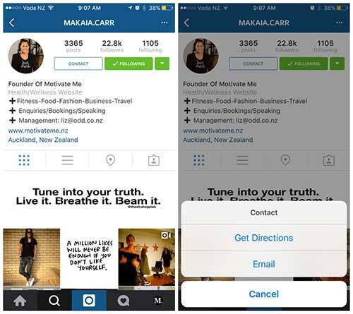 Instagram запустил тестирование бизнес-аккаунтов